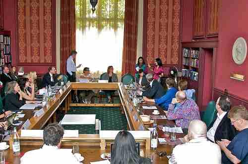 Opening roundtable at Cambridge University